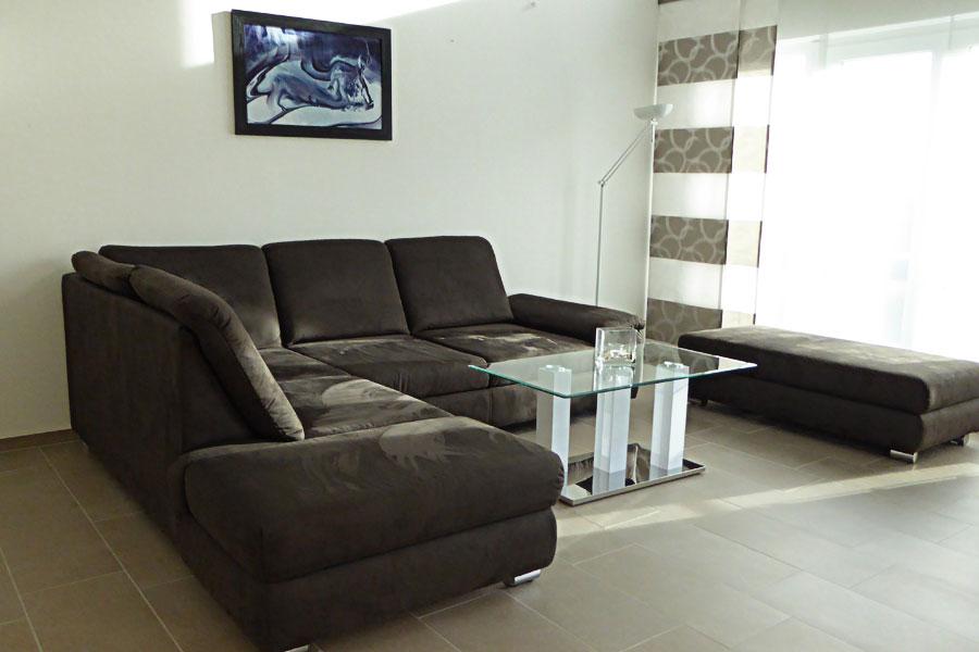 Ferienwohnung in Börgerende Wohnzimmer