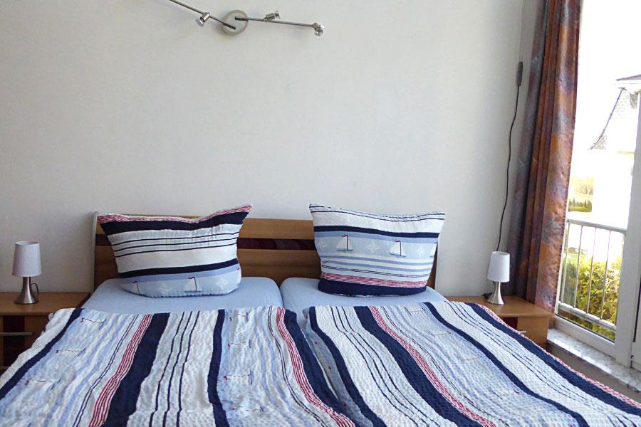 Ferienwohnung in Börgerende Schlafzimmer